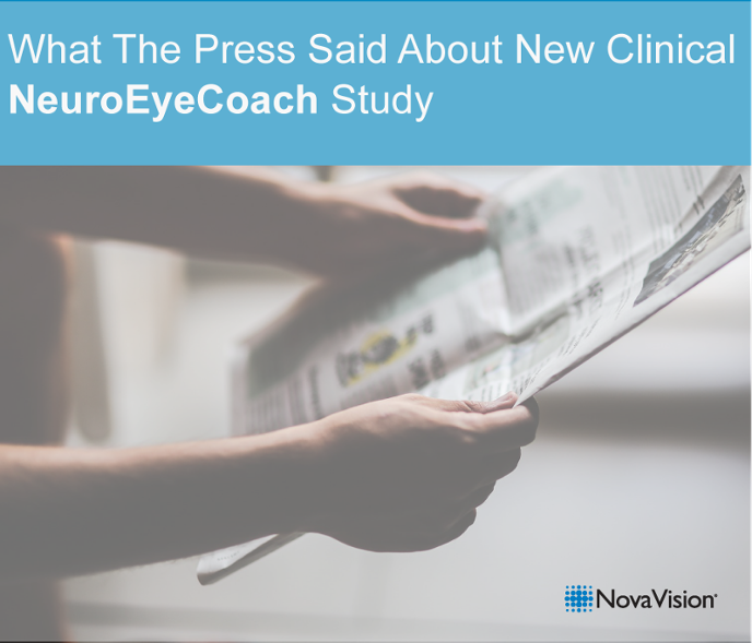 What The Press Said About New Clinical NeuroEyeCoach Study